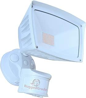4800 Lumens - LED Wall Flood Light with Motion Sensor - White Housing - 5000K Bright White - ETL & DLC Listed - LED Floodlight - Wall Light - 5 Year Warranty