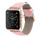 BUY-TO Correa de Reloj Cuero Adecuado para Relojes Apple Iwhtch Serie 1/2/3/4 Universal 38/40/42/44mm,A,42-44MM