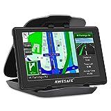 AWESAFE GPS para Coches con 5 Pulgadas Pantalla LCD, Navegador GPS para Coche y Camión con Actualizaciones de Mapas para Toda la Vida