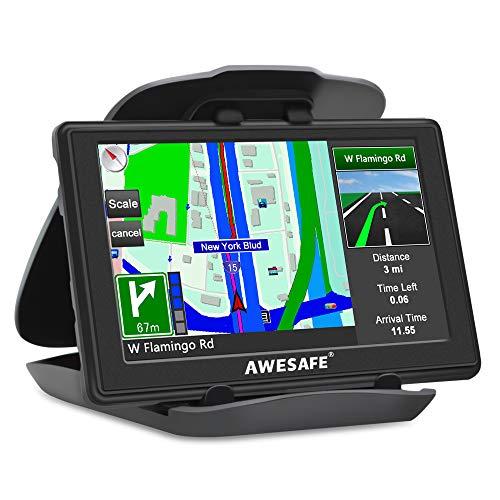 AWESAFE GPS para Coches con 5 Pulgadas Pantalla LCD,