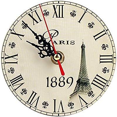 Vintage Wooden Decorative Round Wall Clocks Large Numerals Wall Clock Quartz Clock For Living Room Bedroom