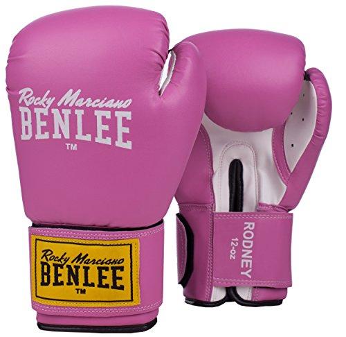 BENLEE Rocky Marciano Boxhandschuhe Perfekt für das Training, Rodney Trainingshandschuhe für die Beste, perfekte Dämpfung, Pink/White, 8 oz