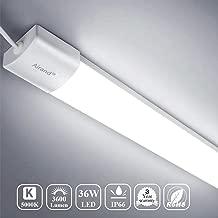 Airand 5000K LED Ceiling Light Flush Mount 36W 4FT LED Wraparound Lights for Garage LED Wrap Lights Fixture LED Ceiling Lamp for Kitchen Bathroom Hallway, 3600LM, Waterproof IP66 (Daylight White)