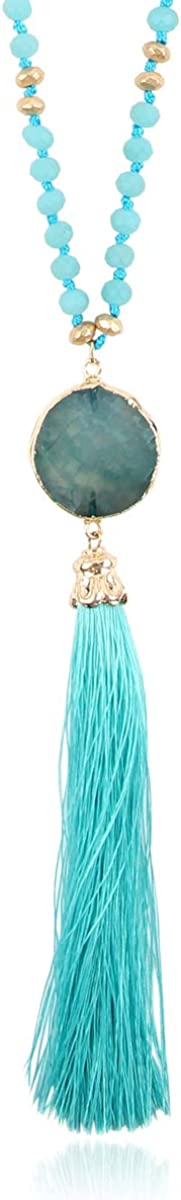 Bohemian Tassel Pendant Beaded Long Necklace Sparkly Statement Weekly Houston Mall update -
