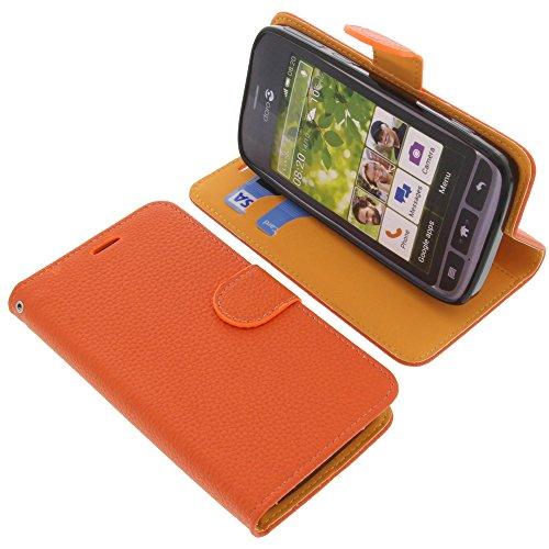 foto-kontor Tasche für Doro Liberto 820 Book Style orange Schutz Hülle Buch