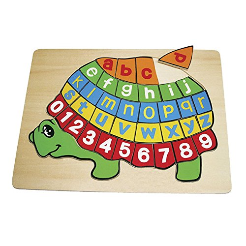 Small foot company - 2423 - Puzzle en Bois - ABC Tortue
