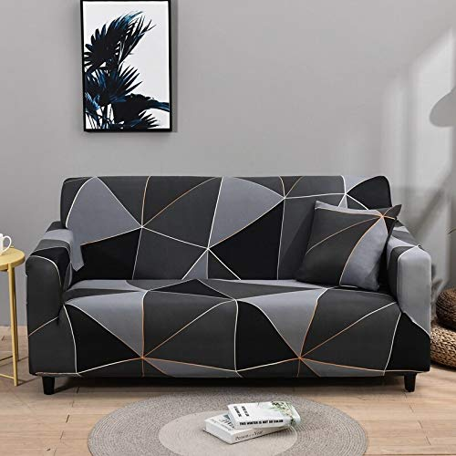 WXQY Funda de sofá geométrica elástica Funda de sofá elástica, Utilizada para la sección de la Sala de Estar, Funda de sofá, Funda de Esquina, Funda de sofá A1 2 plazas