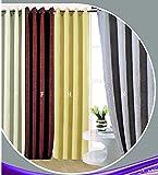 ForenTex - Cortina Semi-Opaca (N-0571), Gris, 145 x 260 cm, Curtain Aislante de Calor y Frio, reducción Ruido, Anti Polvo, Acabados ollaos Acero INOX