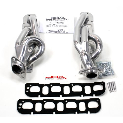 JBA 1961S-2JS Silver Ceramic Exhaust Header for Dodge RAM 5.7L Hemi 15/25/3500 2WD and 4WD