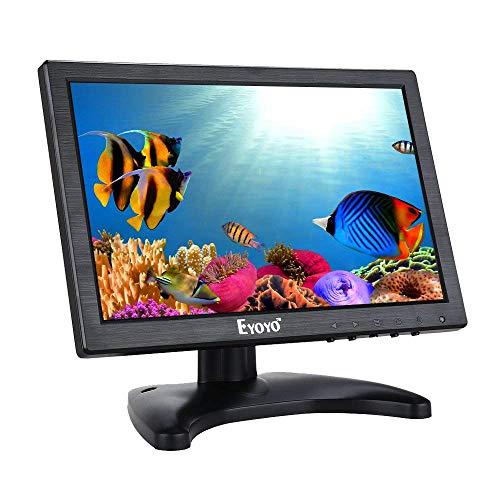 Eyoyo HD HDMI IPS Monitor, Für PC TV CCTV Sicherheitssystem Raspberry Pi w/Eingebaut Lautsprecher (10'' 1280x800 IPS)