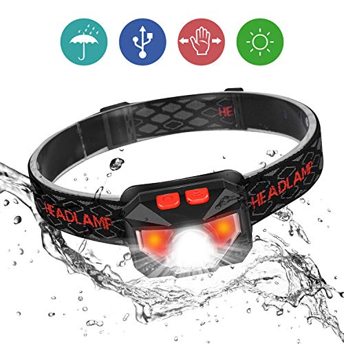 Head Torch, Ofuca IPX45 Waterproof LED Headlamp Headlight, Motion Sensor...