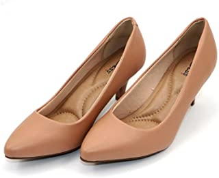 MISS AJ Nude Pointed Toe Comfort Shoes for Women
