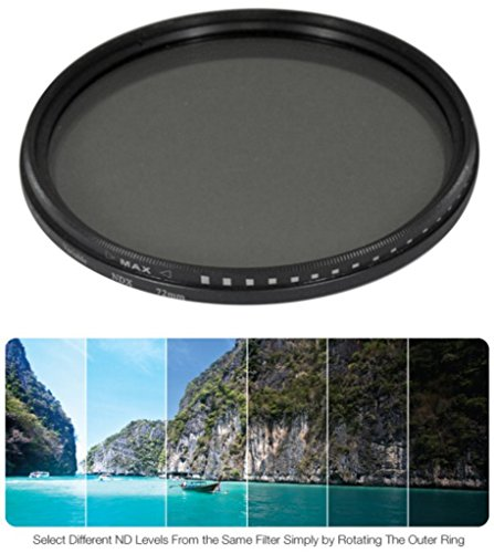 55mm Variable Neutral Density NDX Filter for Sony Cyber-shot DSC-HX300