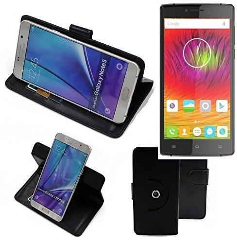K-S-Trade® Handy Hülle Für Cubot S600 Flipcase Smartphone Cover Handy Schutz Bookstyle Schwarz (1x)