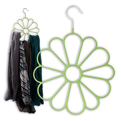 Schalbügel Blume lila oder pink Schalhalter Schalhänger Tuchhalter Bügel