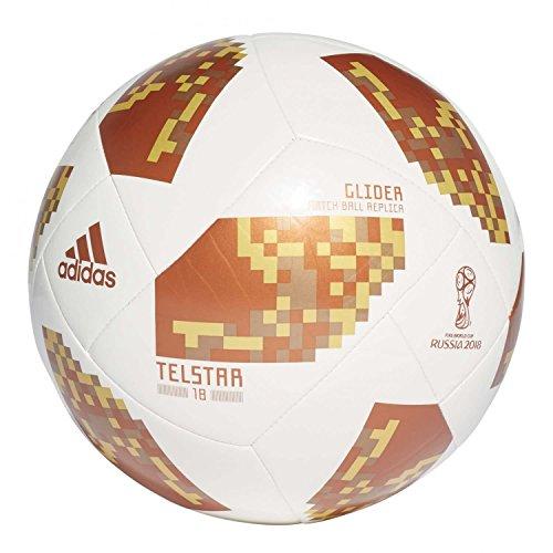 adidas World Cup Glider, Pallone Calcio Uomo, Bianco/Copgol/Goldmt, 5