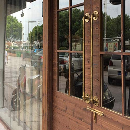 HJXX Manijas de puerta de hierro forjado vintage para interiores y exteriores, bronce exterior Escaleras exteriores Barandales de escalera Baranda de pasamanos Barandales Pasos Montaje en pare