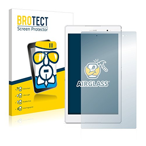 BROTECT Panzerglas Schutzfolie kompatibel mit Sony Xperia Z3 Tablet Compact SGP621 - AirGlass, 9H Härte, Anti-Fingerprint, HD-Clear