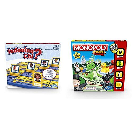 Indovina Chi? (gioco in scatola Hasbro Gaming - Versione in Italiano) &Hasbro Gaming Monopoly Junior, Versione 2019, A6984IT0
