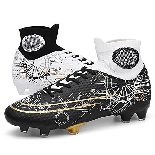 N\C Zapatos De Fútbol De Alta Parte Superior Broken Uñas Zapatillas Largas Uñas Hombres Y Mujeres Césped Artificial Entrenamiento Zapatos