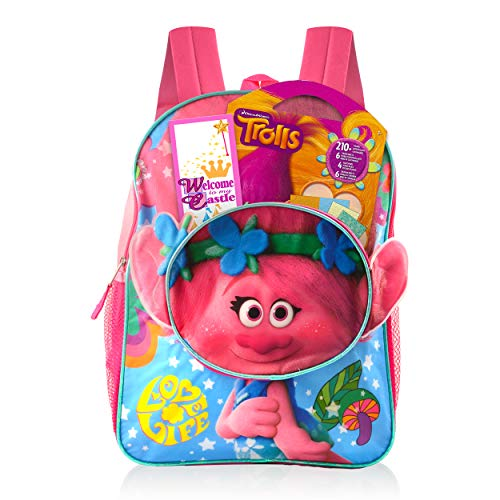 Trolls Backpack School Supplies Bundle ~ Trolls School Bag Set With 200+ Trolls Stickers Plus Coloring Sheets, And More! (Trolls School Supplies)