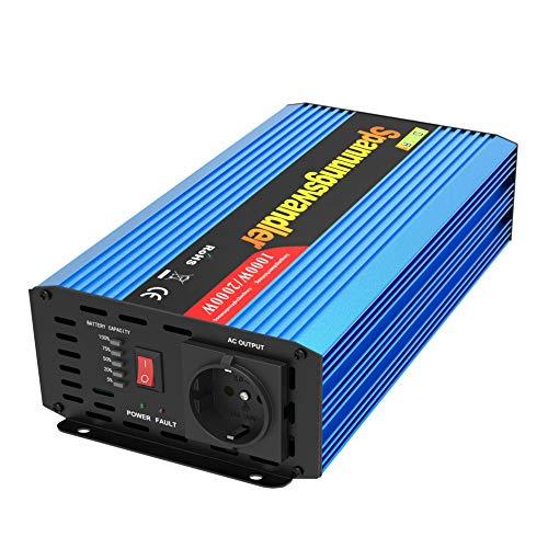 EDECOA Inversor 1000w Convertidor 12v 220v Transformador de 1000w de 12v 220v Onda Modificada