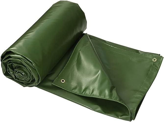 Sarazong épaissir bache imperméable bache en Plein air bache étanche Feuille TARP Feuille-Couverture de qualité supérieure de 540 grammes mètre carré bache Vert,6  8m