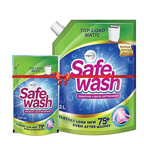 Safewash Matic Liquid Detergent Top Load 2L + 500ml