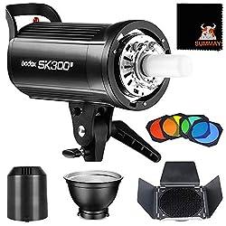GODOX SK300II Studioblitz Profi Blitzkopf 300W GN58 2,4G Einstelllicht 150W Studio Strobe Bowens Blitz Blitzlicht Monolicht Fotografie Video Portrait (SK300II)