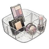 mDesign Organizador de cosméticos con Separador extraíble - Organizador de Maquillaje - Caja organizadora para el Lavabo - Transparente