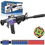 Pistola Juguete Eléctrica con Clip de 12 Dardos, M416 Blaster Automático Grande para Nerf Flechas con 100 Espuma Balas, 3 Modos de Disparo, USB Recargable, Regalo Juego al Aire Libre para Niño Adulto