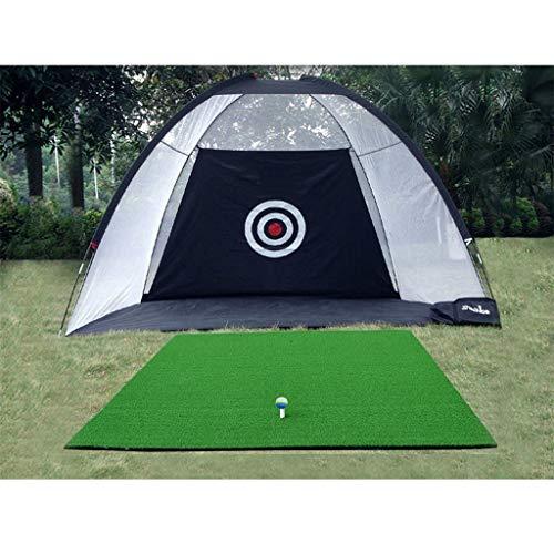 Red de práctica de golf, equipo de golf, red de entrenamiento de golf en interiores de 2m, 3m, portátil y fácil de almacenar en negro for jardines de interior y exterior en jardines de otoño e inviern