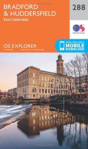 OS Explorer Map 288 Bradford and Huddersfield OS Explorer Paper Map