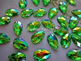 Promozione a forma di goccia di cristallo acrilico verde strass pietre Accessores Sew on sciolto perline strass 150PCS 11x 18mm