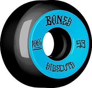 Bones 100's #2 53mm Black - V5 Sidecut