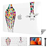 Laptop Case for MacBook Pro 13 Inch 2008-2012, Hard Shell Cover for Mac Pro 13 inch CD Drive Model A1278 with Keyboard Cover and Screen Protector, Colorful Giraffe