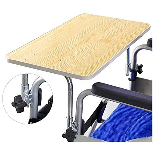 YIQIFEI Bandeja de Madera para Silla de Ruedas, Mesa para Silla de Ruedas, bandejas universales para Escritorio aptas para sillas de Ruedas eléctricas o manuales para discapacitados E (Silla)