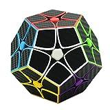 MZStech Megaminx Dodecaedro Cubo Magico Puzzle de Juguete Negro (2x2)