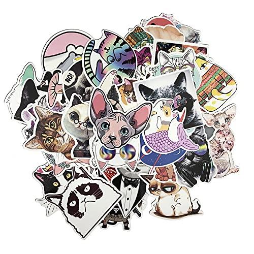 CHUDU Cute Cat Sticker Creativo Valigia Sticker Laptop Bag Bike Phone Cool Sticker 50 Pz