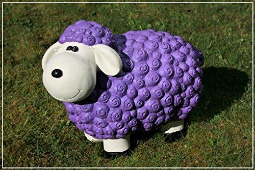 Dekofigur Schaf Bärbel in lila bunte Schafe Tier Figuren für Haus und Garten