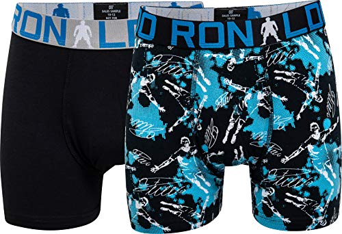 CR7 Cristiano Ronaldo Boys Boxershorts Jungen 2-Pack , Mehrfarbig (533), 134/140 (7-9 Jahre)