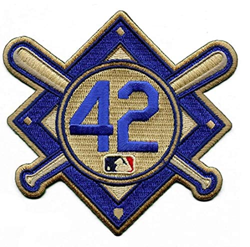Emblem Source Jackie Robinson #42 MLB Licensed Primary Logo Jersey Sleeve Patch