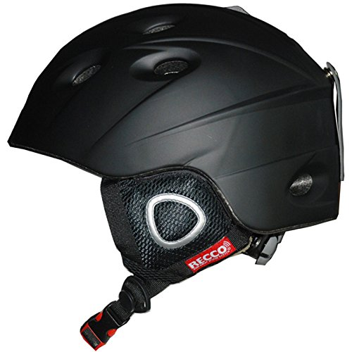 Cox Swain Ski-/Snowboard Helm Inmold Recco - mit Recco Lawinenreflektor, Farbe: Black, Größe: XL