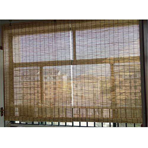 Stores À Enroulement pour Fenêtre, Stores en Roseau pour Extérieur/Terrasse/Balcon/Pergola, Stores À Enrouleur Filtrant La Lumière, Résistent À La Moisissure, À l'eau,50x80cm/20x31in