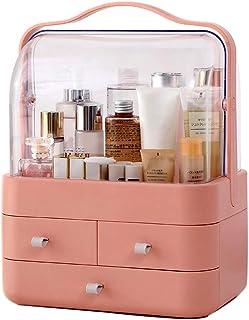 Cosmetic Storage Box Multi-Layer Cosmetic Storage Rack Stylish Three-Layer Storage Box Portable Drawer Cosmetic Case Skin Care Shelf Large-Capacity Storage Box (Color : Orange)