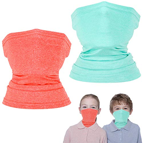2 Pcs Kids Neck Gaiter, Summer Cooling Face Cover for Boys Girls, Outdoor Neck Gaiters Bandanas Face Scarf Balaclava