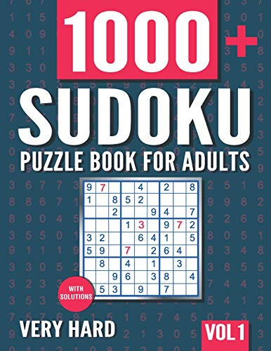 Sudoku Puzzle Book for Adults: 1000+ Very Hard Sudoku Puzzles with Solutions - Vol. 1