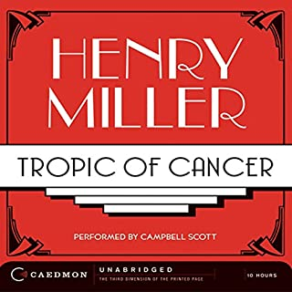 Tropic of Cancer audiobook cover art