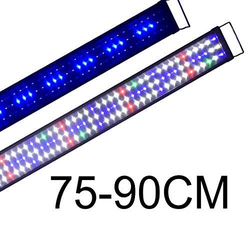 Boomersun Klassik vollspektrum LED5730 Aquarium Beleuchtung Lampe mit Mondlicht Tageslichtsimulation Lampe Reef Coral Fish Wasserpflanzen Süß-/Meerwasser Aquarien 75-90cm