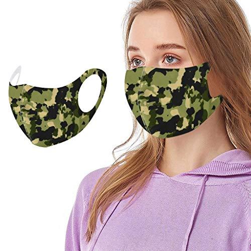 YpingLonk 1 Pieza de Mujer, Hombre, Cubierta Facial Reutilizable, Camuflaje de Moda, a Prueba de Viento, a Prueba de Polvo, Bufanda de Bandana Transpirable